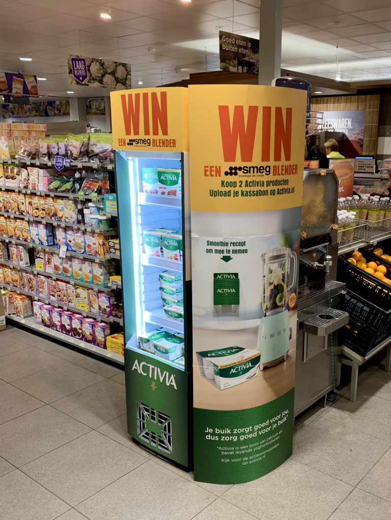Activia danone Gekoelde display